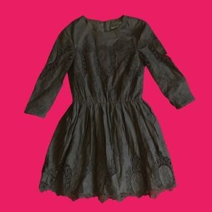 Topshop lace panels dress